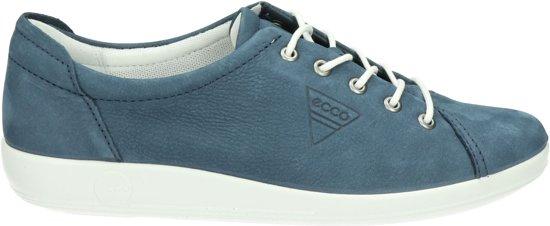 | ECCO Soft 2.0 dames sneaker Blauw Maat 39