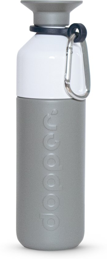 Dopper Insulated Thermosfles + gratis Dopper Carrier - 580 ml - Glacier Grey