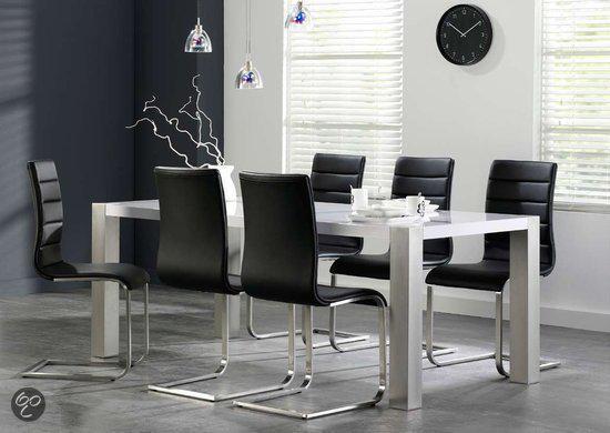 Eettafel Wit Design.Bol Com Eyoba Mona Eettafel Wit 90x165 Cm