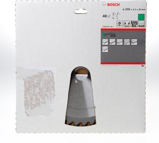 Bosch Cirkelzaagblad 40 tanden Optiline Wood ABT 250 x 30mm