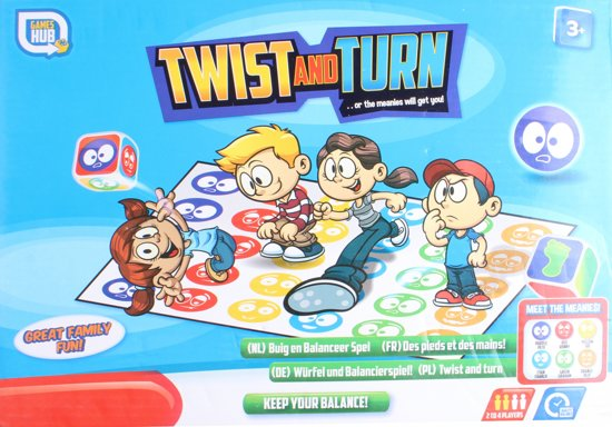 Games Hub Gezelschapsspel Twist And Turn 150 X 120 Cm