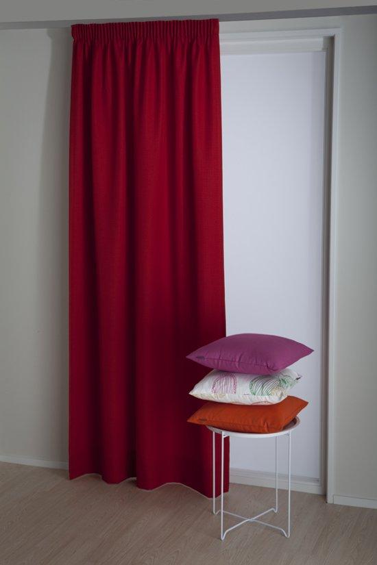 bol.com | Okee! Flavor - Kant en klaar gordijn - Rood - 140x180 cm ...