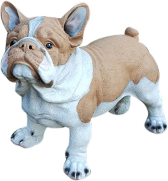 Vrolijke Beelden Franse Bulldog - 40 Cm - Wit