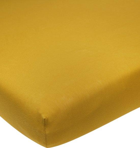 Meyco jersey hoeslaken boxmatras - 75x95 cm - okergeel