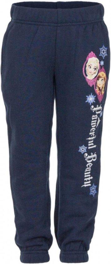 Joggingbroek 128.Bol Com Disney Frozen Joggingbroek Navy Voor Meisjes 128