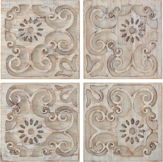 Houten Panelen Wanddecoratie.Bol Com Art For The Home Houten Panelen Moroccan Light