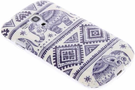 Elephant Design Flip Cas Tpu Pour La Mini-samsung Galaxy S 5ZaEtvd