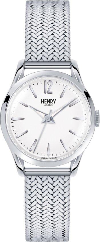 Henry London HL25-M-0013 - Horloge - Staal - Zilverkleurig - Ø 25 mm