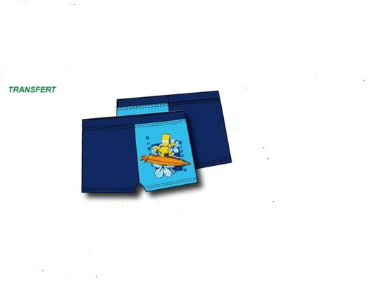 Zwemboxer|The Simpsons|kleur blauw mt 128