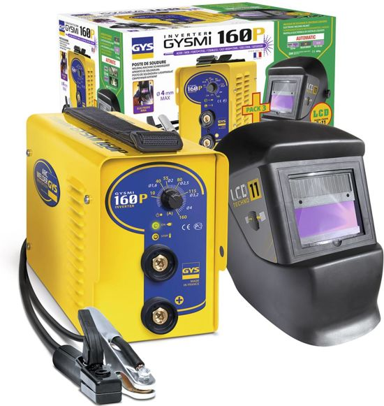 GYS Lasinverter GYSMI 160P met LCD Techno 11 masker 10-160 A