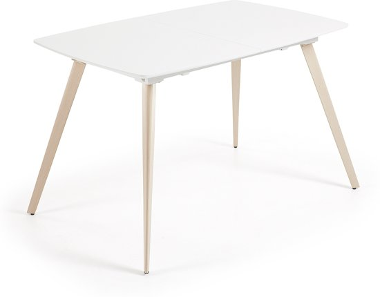 Eettafel Wit 140 Cm.Bol Com Kave Home Smart Eettafel Wit Hout Uitschuifbaar
