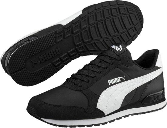 Puma V2 Maat Black Sneakers White Runner St Nl 42 Unisex rZSw7xrAq
