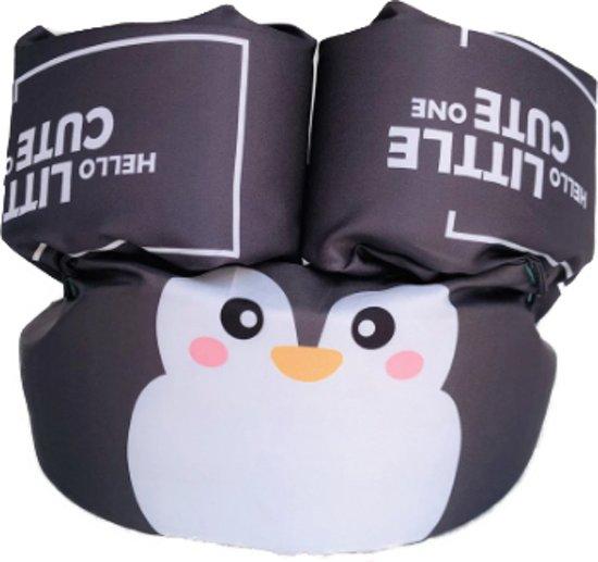 Zwemvest Pinguin Zwart- Zwemvest kind-Zwemvest Kinderen- Veilig Zwemmen- Zwemband- 2 tot 6 jaar