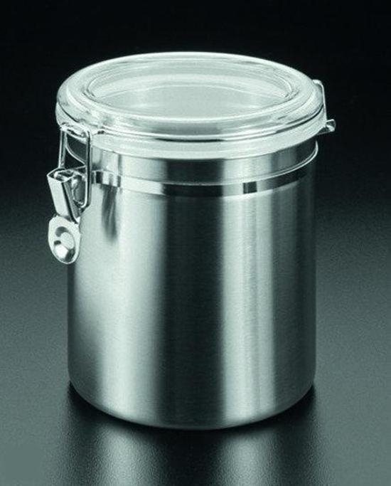 Voorraadbus 3 Liter.Metaltex Voorraadbus Met Clipsluiting 1 3 L Rvs