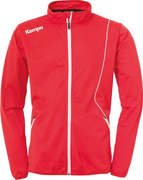 Kempa Curve Classic  Trainingsjas - Maat XXXL  - Mannen - rood/wit