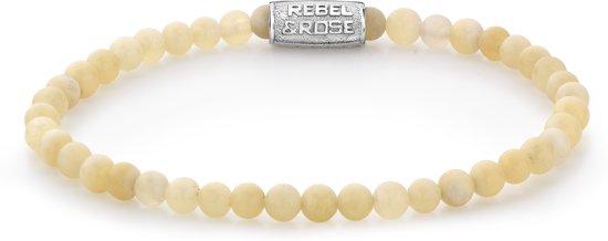 Rebel&Rose armband - Ivory Beige - 4MM - XS (15CM)