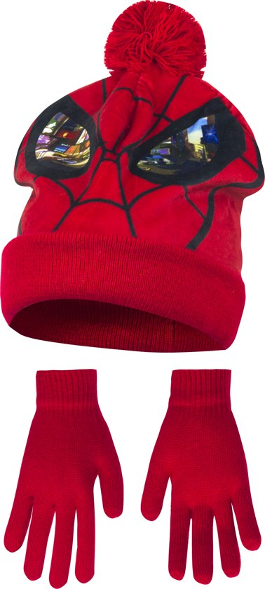 Kindermuts set|spiderman|rood Mt 52