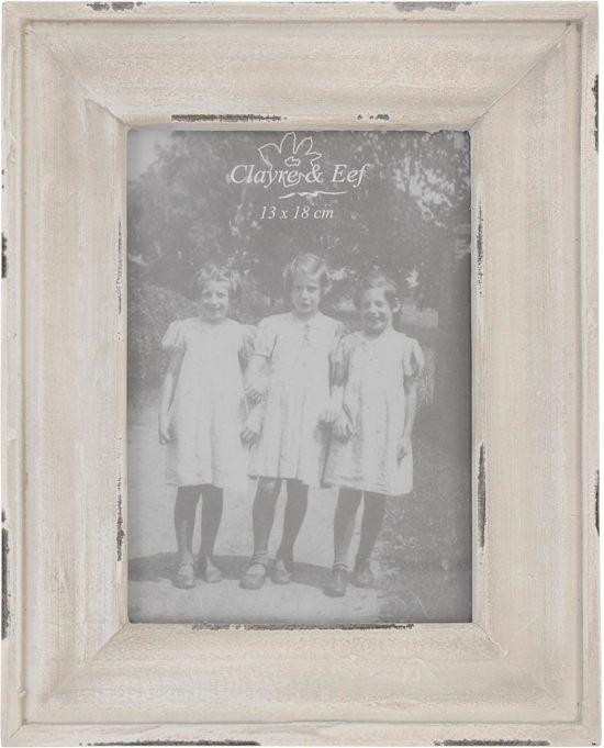 Witte Houten Fotolijst.Bol Com Clayre Eef Houten Fotolijst 13x18 Cm Wit