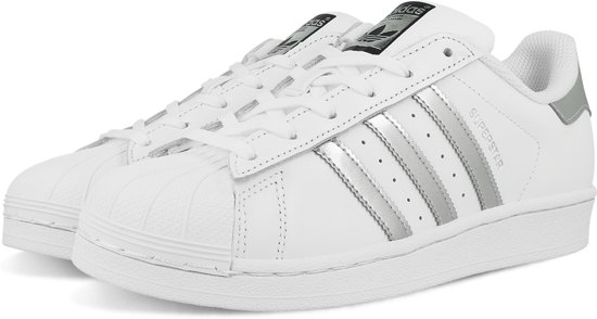 adidas sneakers zilveren neus