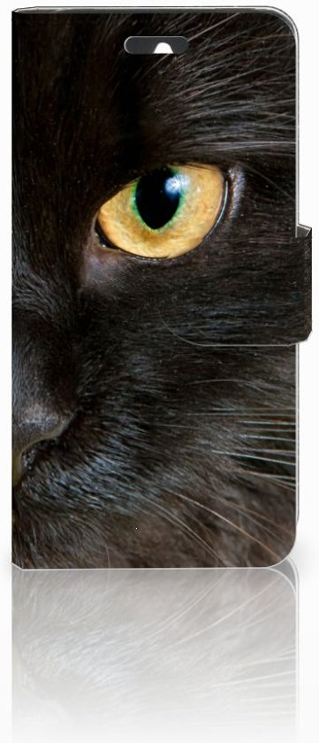 Huawei Ascend Y550 Uniek Design Hoesje Zwarte Kat