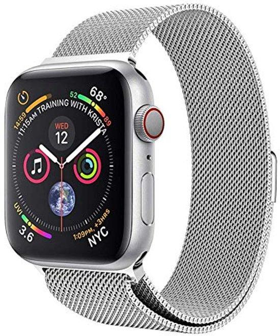 Milanese Loop Armband Voor Apple Watch Series 1/2/3/4 42/44 MM Iwatch Milanees Horloge Band - Zilver Kleurig