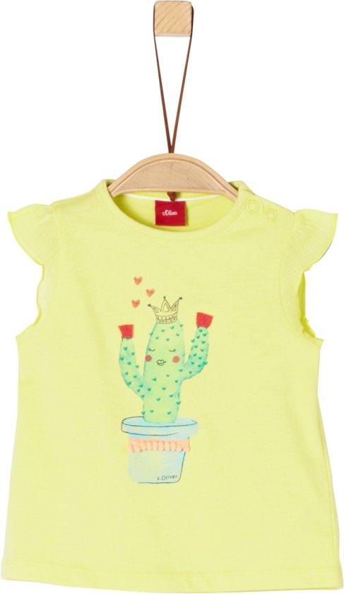 S Oliver Meisjes T-Shirt - groen - Maat 62