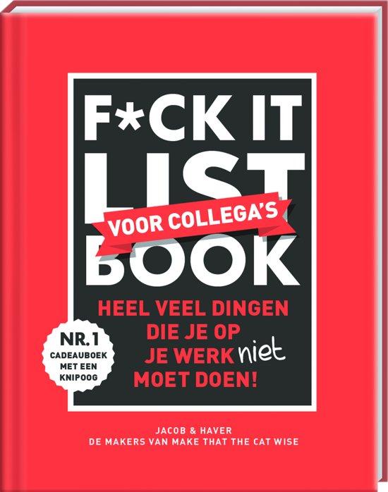 Boek cover F*ck it list book voor collegas van Jacob & Haver (Hardcover)