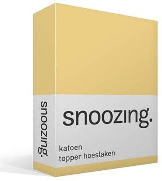 Snoozing - Katoen - Topper - Hoeslaken - Lits-jumeaux - 200x220 cm - Geel