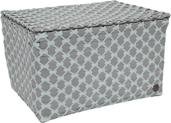 Handed By Toulon - Opbergmand - grijs met grijsgroen patroon