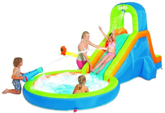 Slide And Splash Opblaasbare Waterglijbaan met ZwembadOnbekend