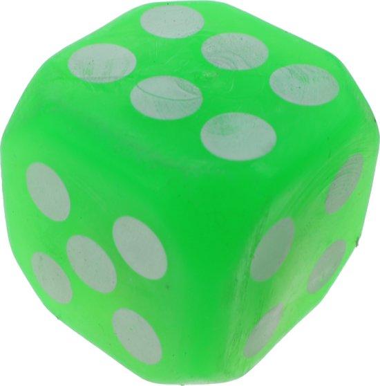 Afbeelding van het spel Amigo Dobbelsteen Met Lichteffect 4 Cm Groen