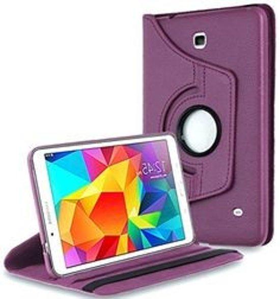 Paarse 360 graden draaibare tablethoes Galaxy Tab 4 8.0 T330