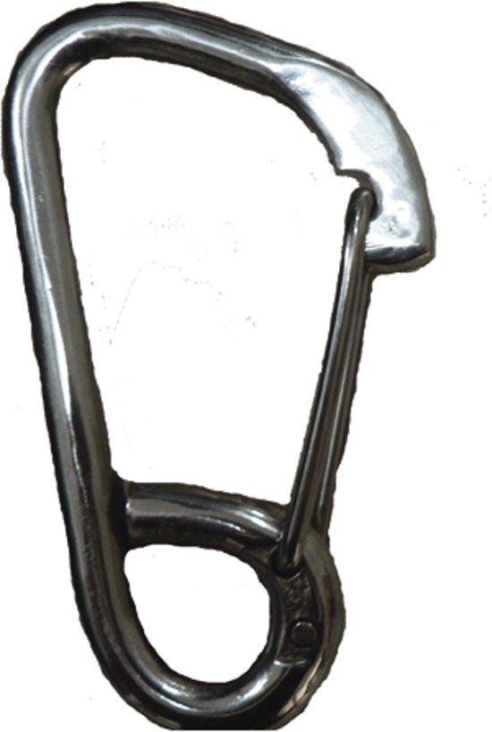 Talamex asymmetrische Karabijnhaak met oog 122mm