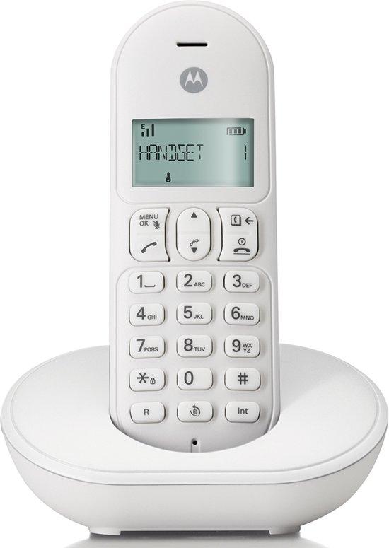 Motorola T101L Basic Single Set - NL - DECT Telefoon - Wit