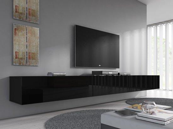 tv meubel flame wit 300 cm. Black Bedroom Furniture Sets. Home Design Ideas