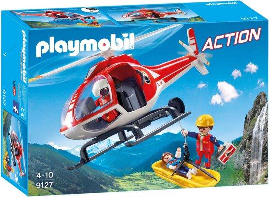 PLAYMOBIL Reddingswerkers met helikopter  - 9127