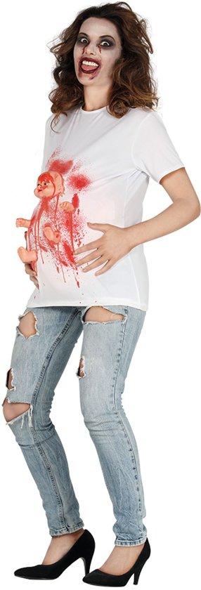 Bloederig zwangere vrouw t-shirt voor volwassenen - Volwassenen kostuums