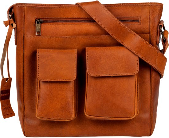 BURKELY Vintage Beau Cross Over - Schoudertas - Cognac
