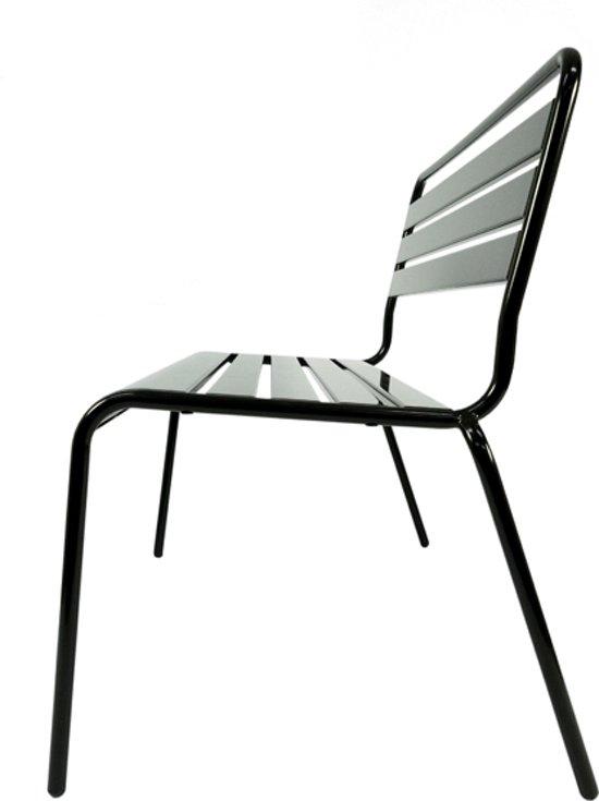 MaximaVida metalen tuinbank Max zwart 120 cm- stapelbaar