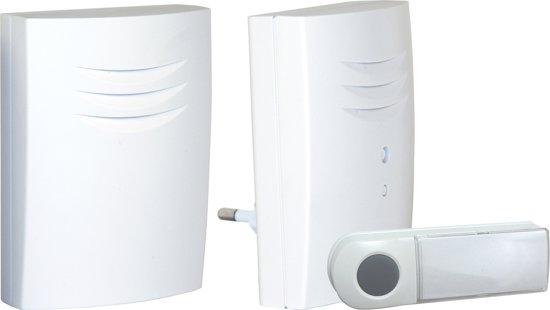 Byron B431E - Draadloze deurbel duopack - 75m - Plug-in deurbel & draagbare deurbel - Beldrukker licht op in het donker - Wit