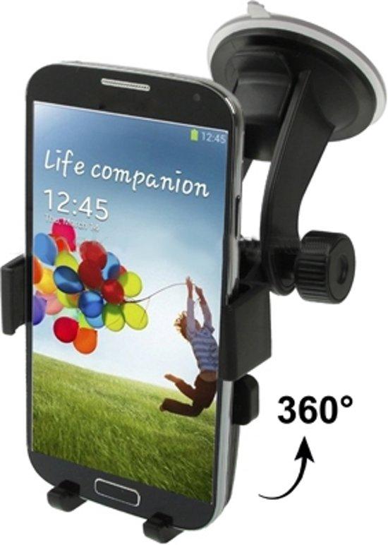 Sony Xperia Z5 Compact Autohouder met Zuignap - Auto Houder - Telefoonhouder - Dashboardhouder - Telefoon Houder - Raamhouder - Zwart in Waaxens / Waaksens