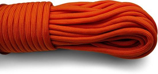Paracord - Touw - 6 mm - 30 meter - Oranje -  Vismagneet touw - Magneetvissen touw - 400 kg trekkracht