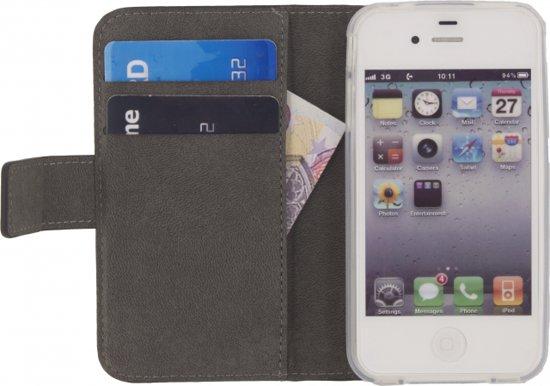 Mobilize Slim Wallet Book Case Black voor Apple iPhone 4 / 4S
