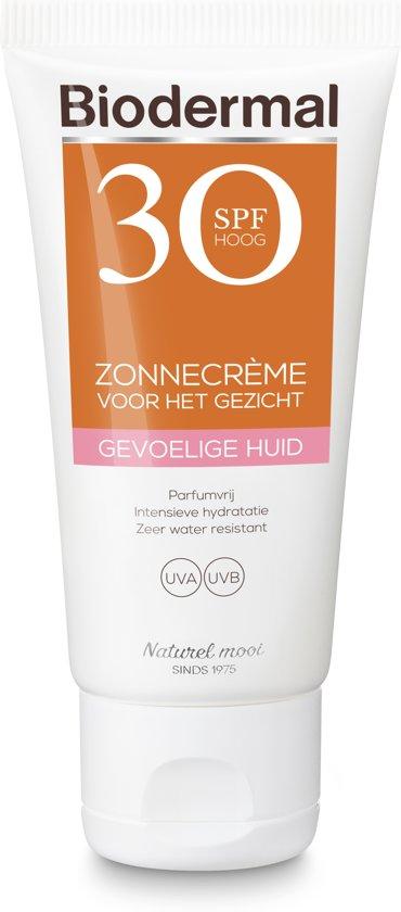 Biodermal Zon Zonnebrand - SPF 30 - 50ml -  voor Gevoelige huid