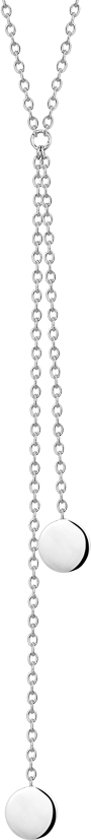 The Fashion Jewelry Collection Ketting Rondje 1,2 mm 40 - 42 - 44 cm - Zilver Gerhodineerd