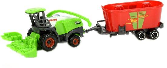 Toi-toys Hakselaar Met Aanhanger 15 Cm Groen/rood