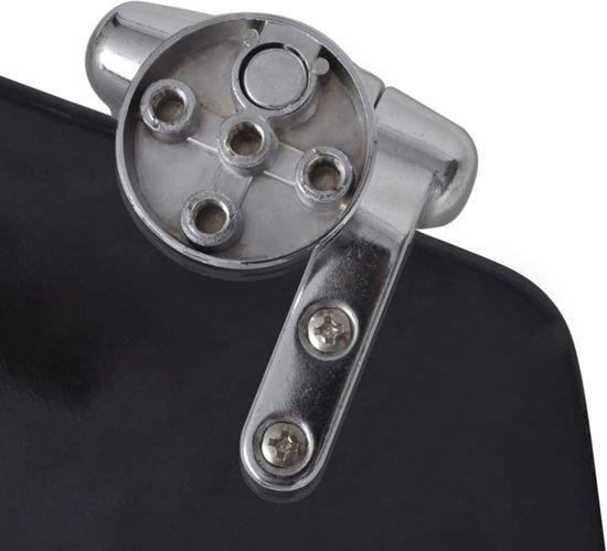 vidaXL Toiletbril met soft-closedeksel 2 st MDF zwart
