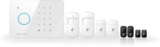 Draadloos alarmsysteem eTIGER S3b Sim SECUAL met GSM communicatie via iOS en Android