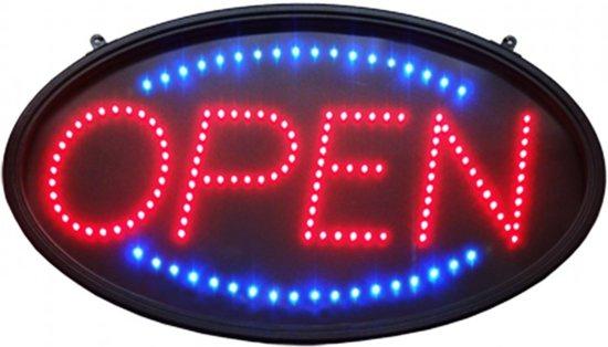 Welp bol.com   LED open bord ovaal - LED reclamebord - Licht reclame FN-61