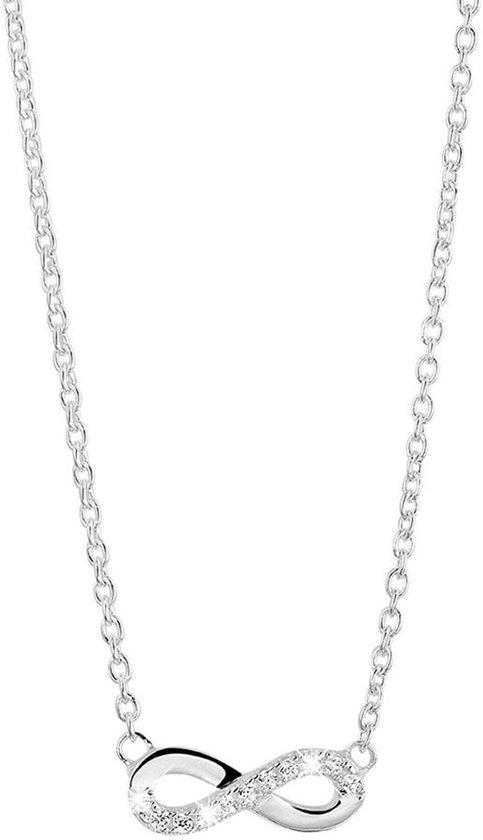 Lucardi - Zilveren ketting met hanger infinity met zirkonia